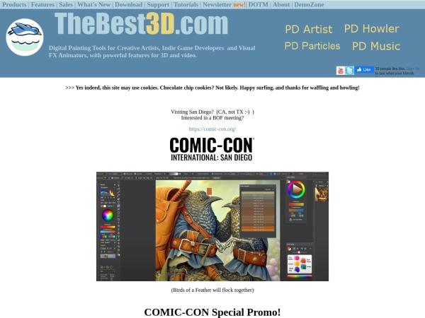 Screenshot of www.thebest3d.com