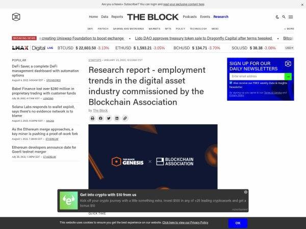 Screenshot of www.theblockcrypto.com