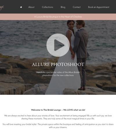Screenshot of www.thebridallounge.co.uk