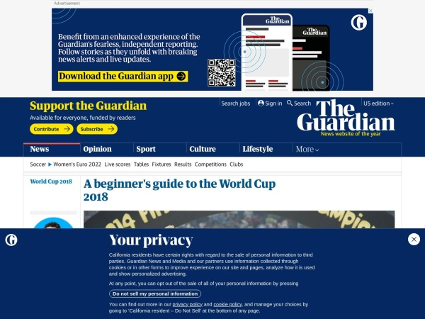 A beginner's guide to the World Cup 2018