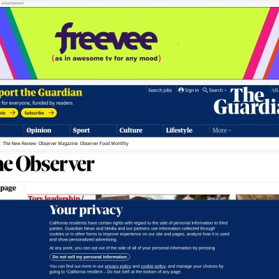 Screenshot of www.theguardian.com
