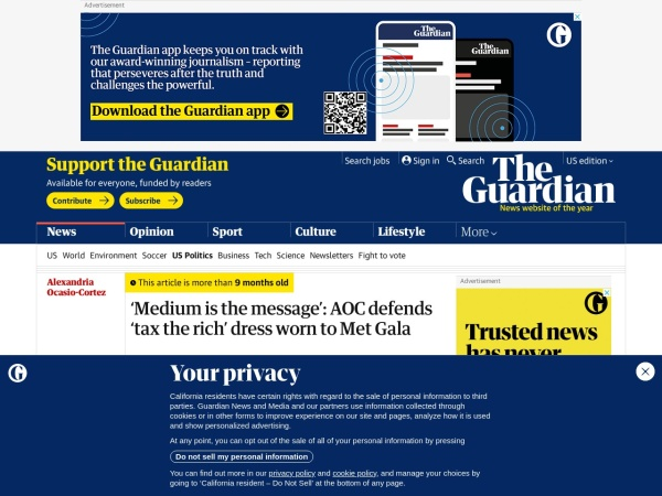 Screenshot of www.theguardian.com