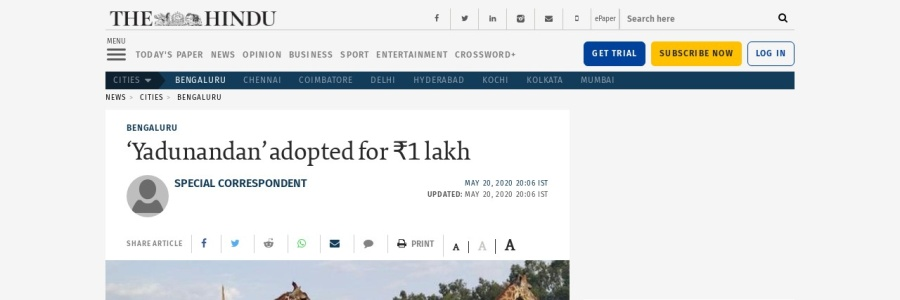 Screenshot of www.thehindu.com