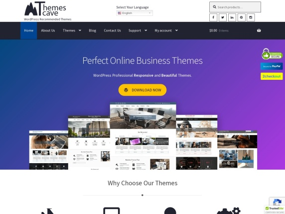 ThemesCave home page