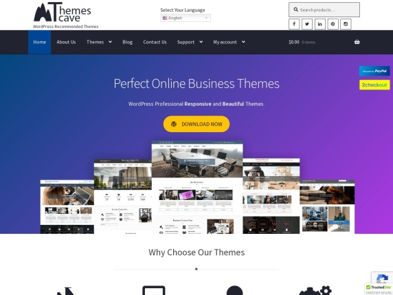 ThemesCave homepage