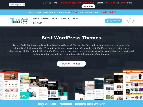 Homepage di ThemeShopy
