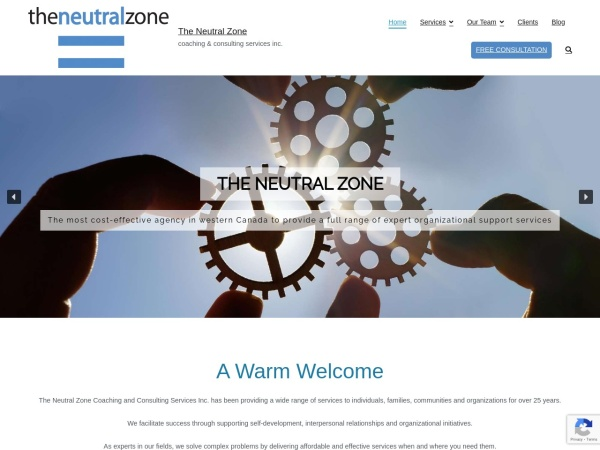 Screenshot of www.theneutralzone.ca