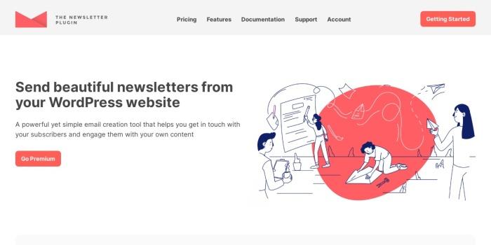 Screenshot of www.thenewsletterplugin.com