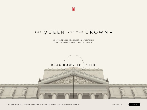 Screenshot of www.thequeenandthecrown.com