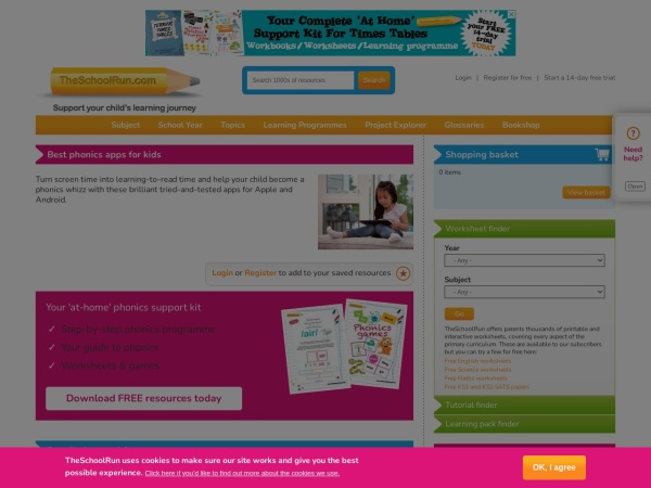 Screenshot of www.theschoolrun.com