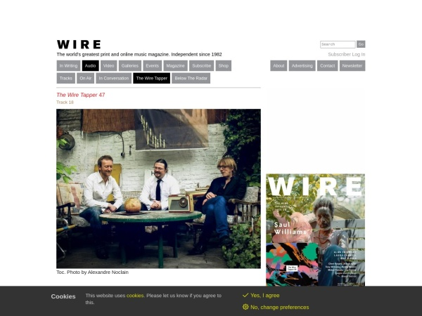 Screenshot of www.thewire.co.uk