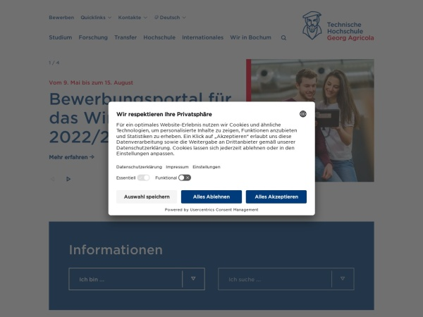 Screenshot of www.thga.de