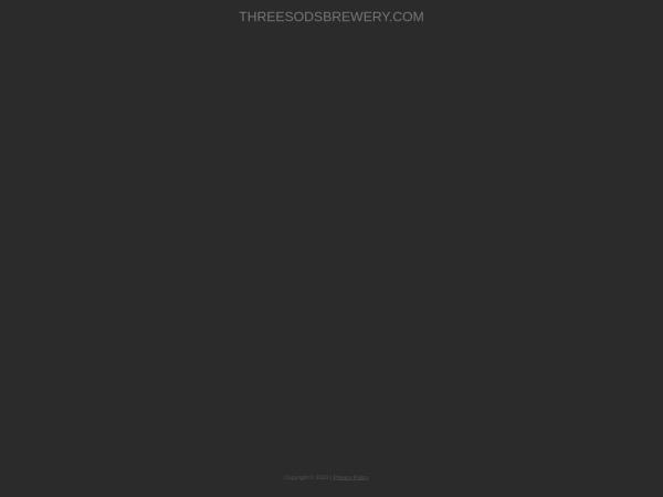 Screenshot of www.threesodsbrewery.com