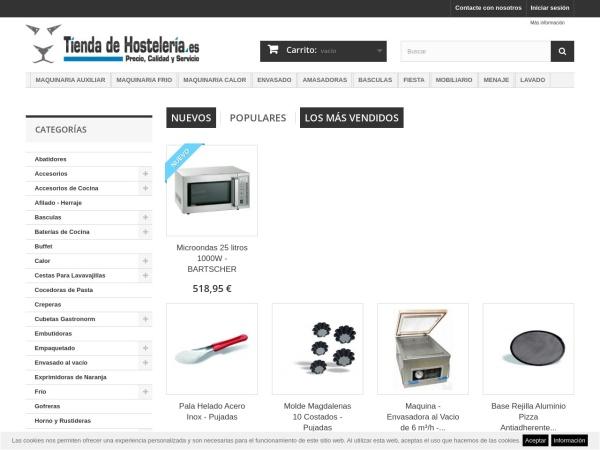 Captura de pantalla de www.tiendadehosteleria.es