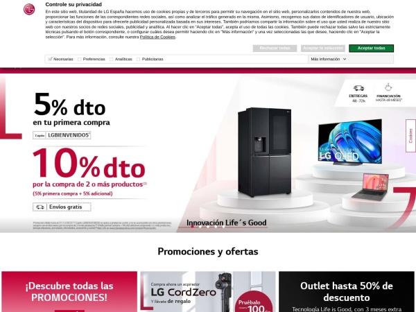 Captura de pantalla de www.tiendalgonline.com