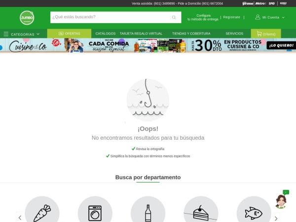 Captura de pantalla de www.tiendasjumbo.co