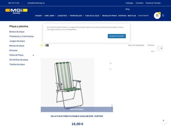 Captura de pantalla de www.tiendasmgi.es