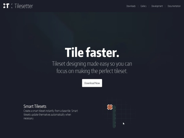 Screenshot of www.tilesetter.org