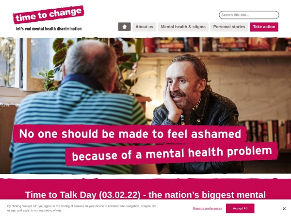 Screenshot of www.time-to-change.org.uk