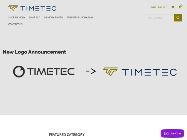 Screenshot of www.timetecinc.com