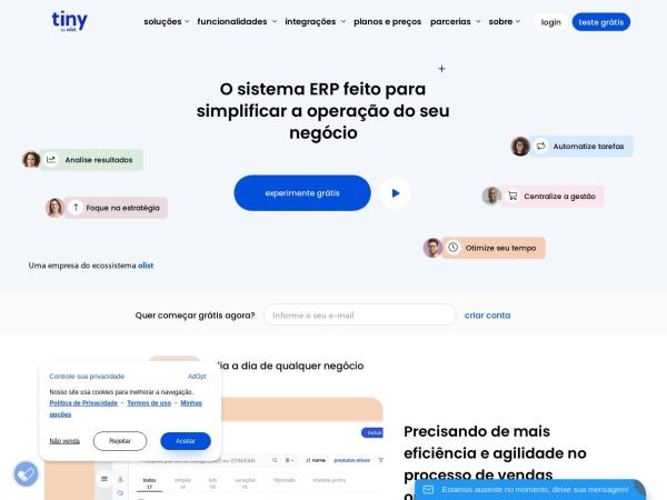 Screenshot of www.tiny.com.br