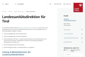 Screenshot of www.tirol.gv.at