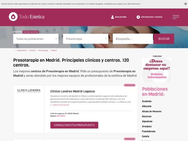 Captura de pantalla de www.todoestetica.com