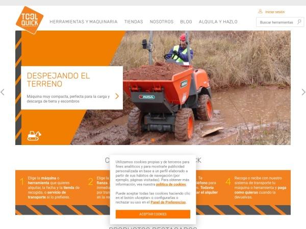 Captura de pantalla de www.toolquick.es