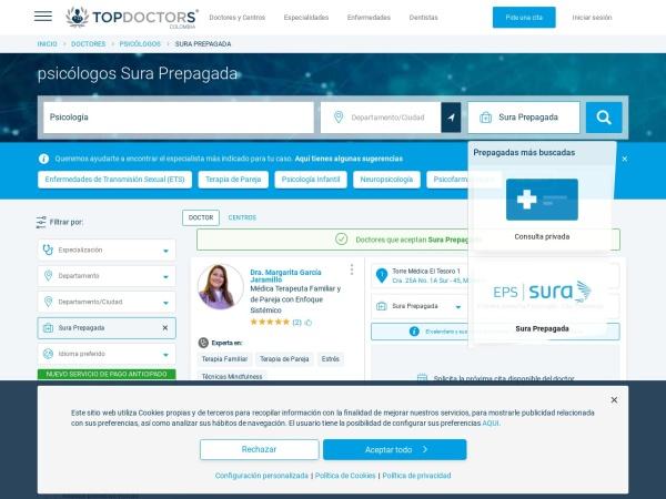 Captura de pantalla de www.topdoctors.com.co