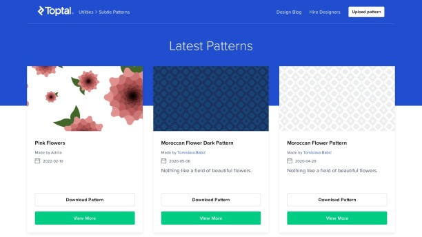 Screenshot of www.toptal.com