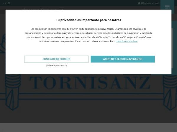 Captura de pantalla de www.tornisanz.com