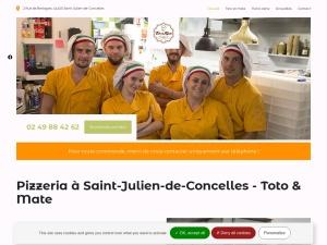 Toto et Mate : pizzeria à Saint-Julien-de-Concelles, des plats faits à partir de produits frais locaux et de qualité