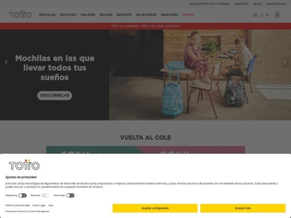 Captura de pantalla de www.totto.es