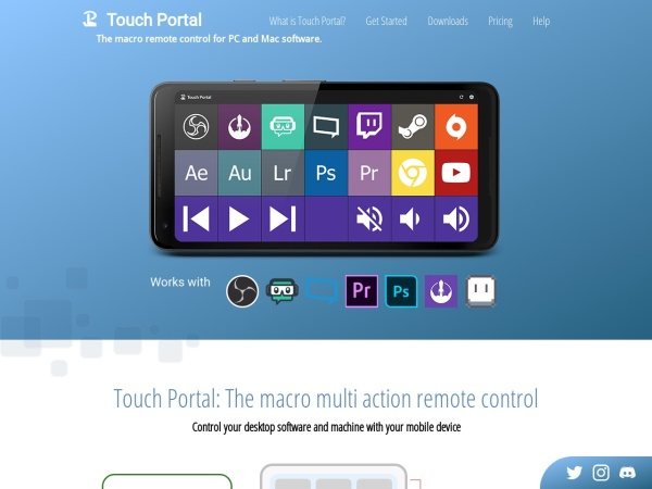 Screenshot of www.touch-portal.com