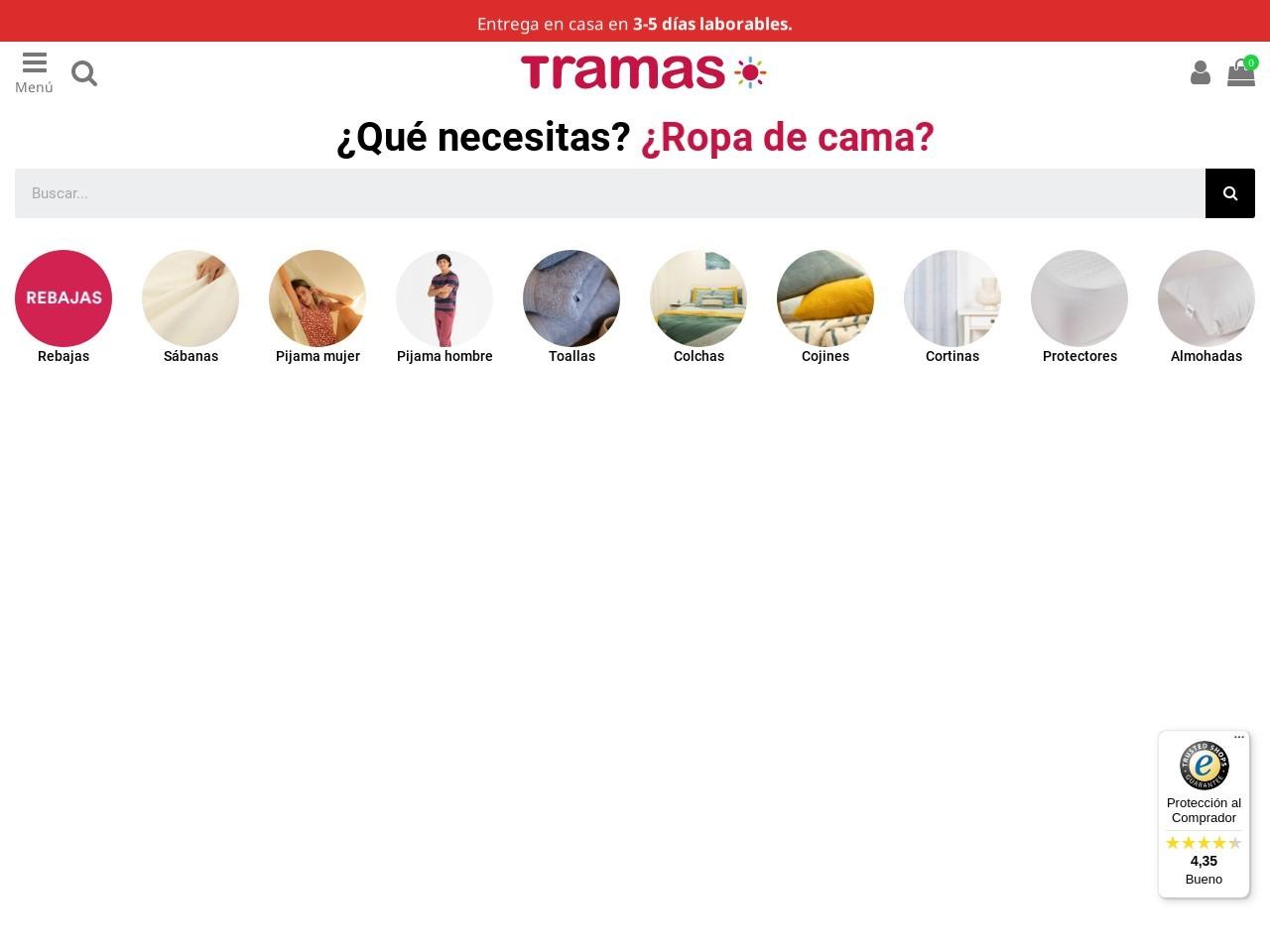 Captura de pantalla de www.tramasmas.com