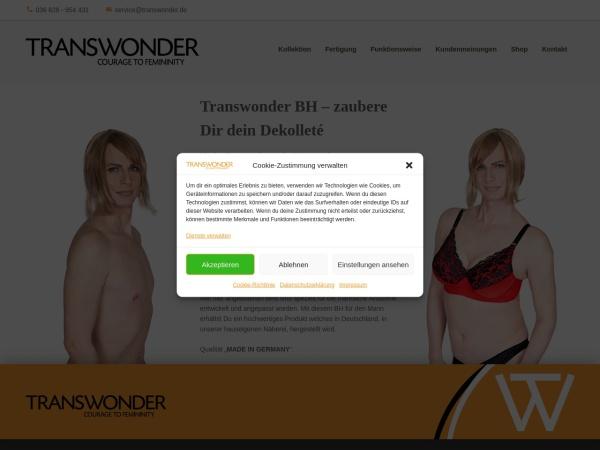 Screenshot von www.transwonder.de