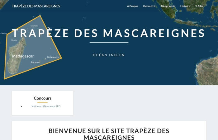 Screenshot of www.trapezedesmascareignes.fr