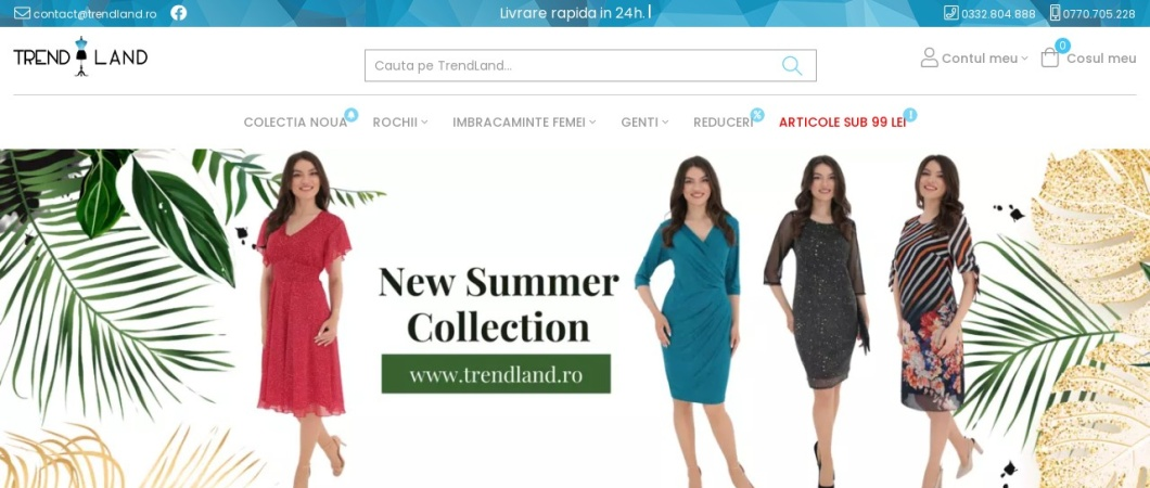 Screenshot of www.trendland.ro