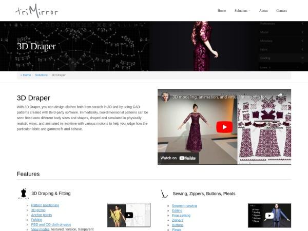 Screenshot of www.trimirror.com
