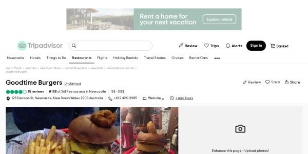 Screenshot of www.tripadvisor.com.au