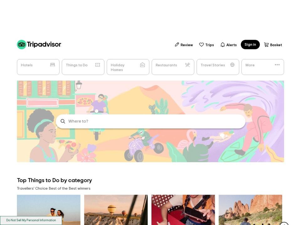 Screenshot of www.tripadvisor.in