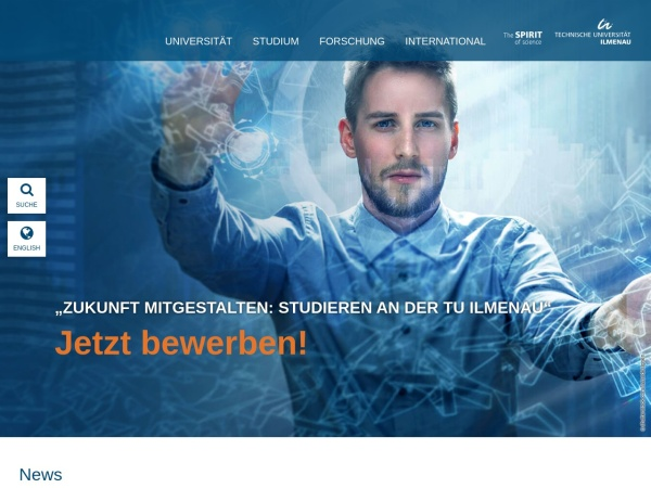 Screenshot of www.tu-ilmenau.de