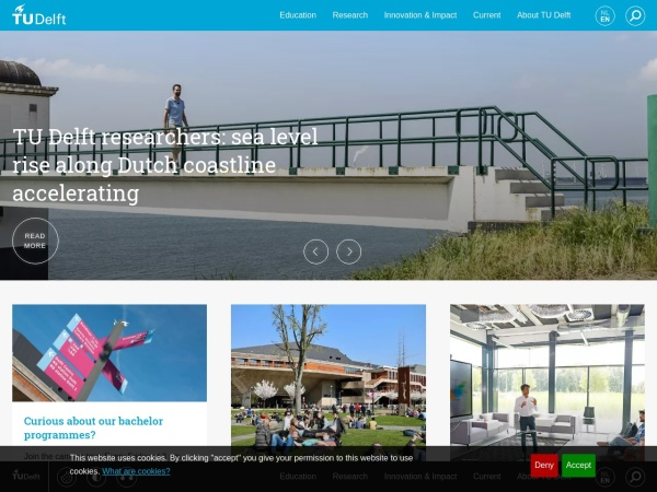 Screenshot of www.tudelft.nl