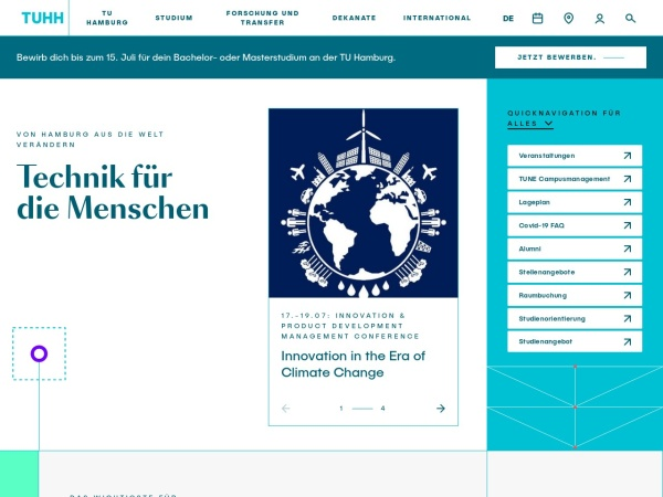 Screenshot of www.tuhh.de