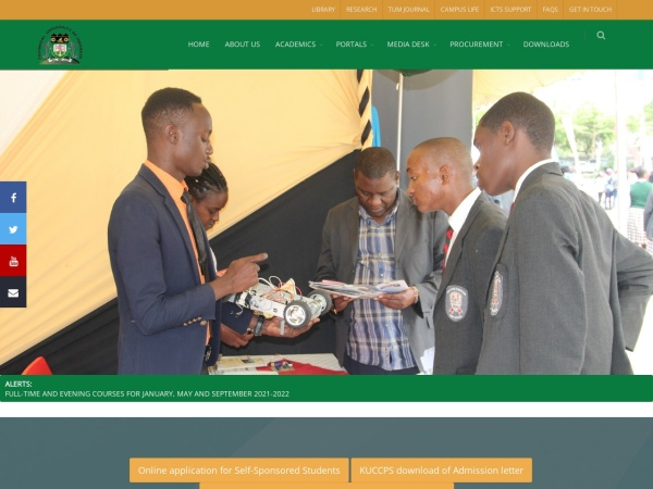 Screenshot of www.tum.ac.ke
