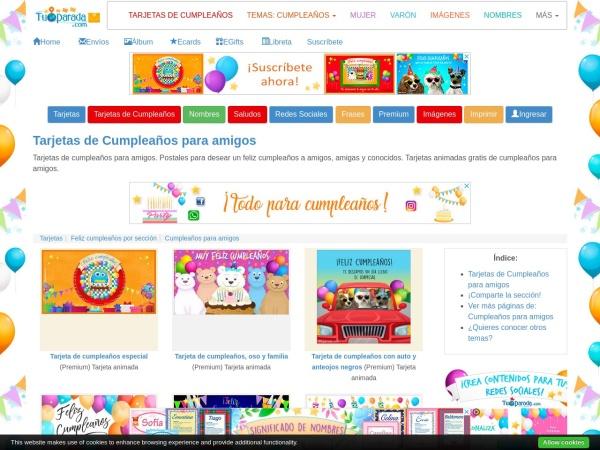 Captura de pantalla de www.tuparada.com
