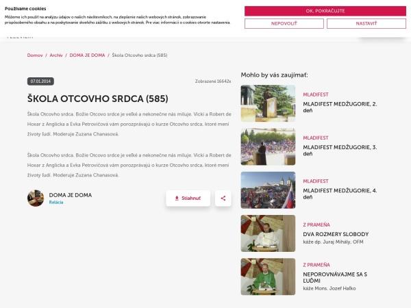 Screenshot of www.tvlux.sk