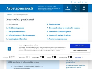 Hur stor blir pensionen ? - Arbetspension.fi