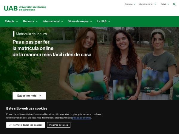 Screenshot of www.uab.cat