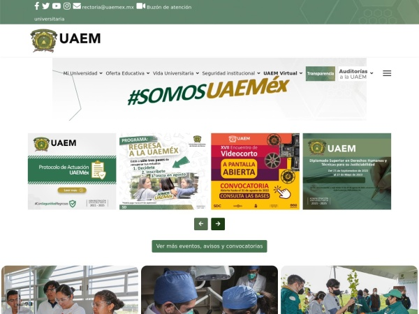 Screenshot of www.uaemex.mx